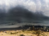 Shelf cloud Brazilie